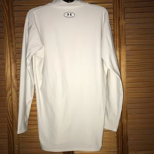 Under Armour Shirts - Under Armour Coldgear White Long Sleeve Top